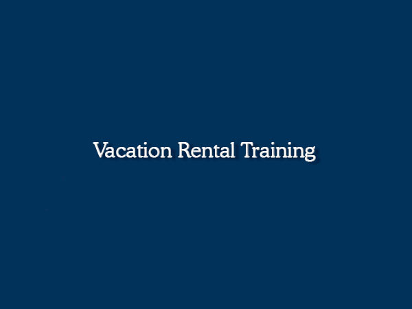 Vacation Rental Training